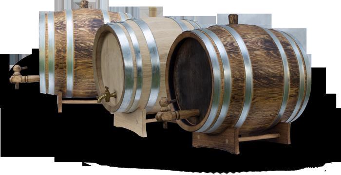 trzy dębowe beczki Boros Oak Barrels